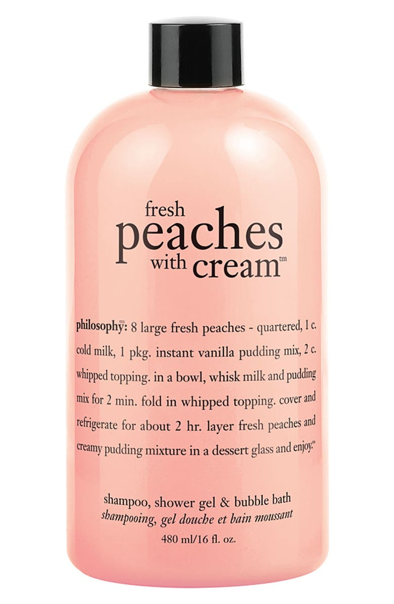 PHILOSOPHY 'fresh peaches with cream' shampoo, shower gel & bubble bath, Main, color, 000