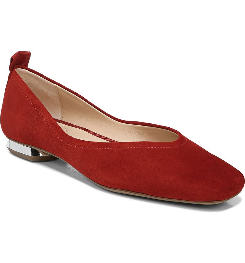 FRANCO SARTO Ailee Flat, Main, color, RED LEATHER