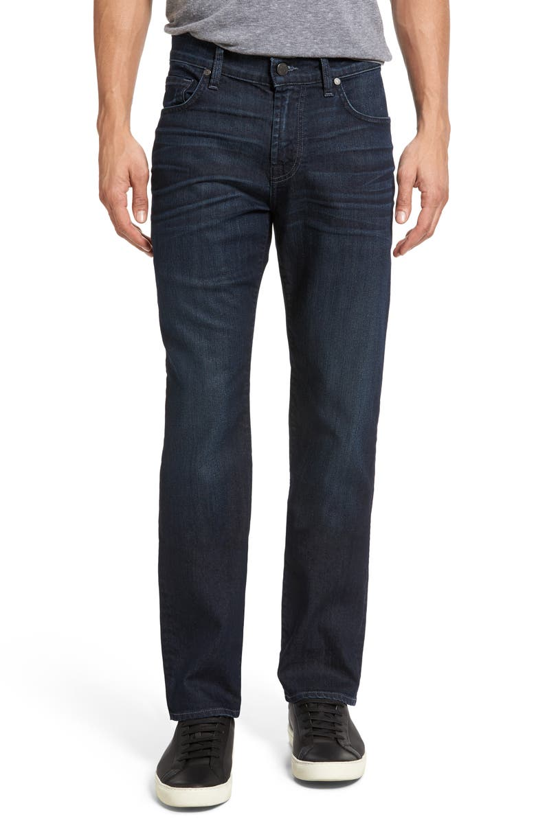 7 FOR ALL MANKIND<SUP>®</SUP> The Straight AirWeft Slim Straight Leg Jeans, Main, color, PERENNIAL
