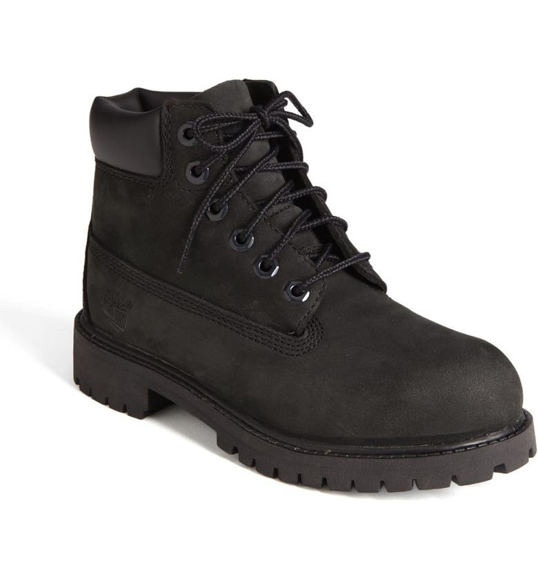 TIMBERLAND '6 Inch Premium' Waterproof Boot, Main, color, BLACK NUBUCK