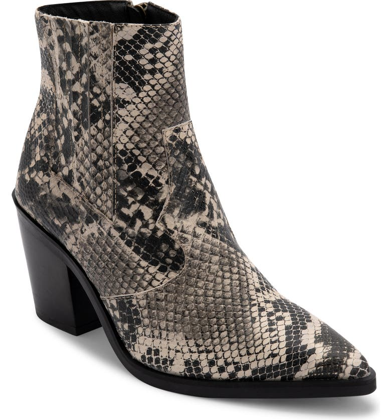 BLONDO Que Waterproof Bootie, Main, color, TAN SNAKE PRINT LEATHER
