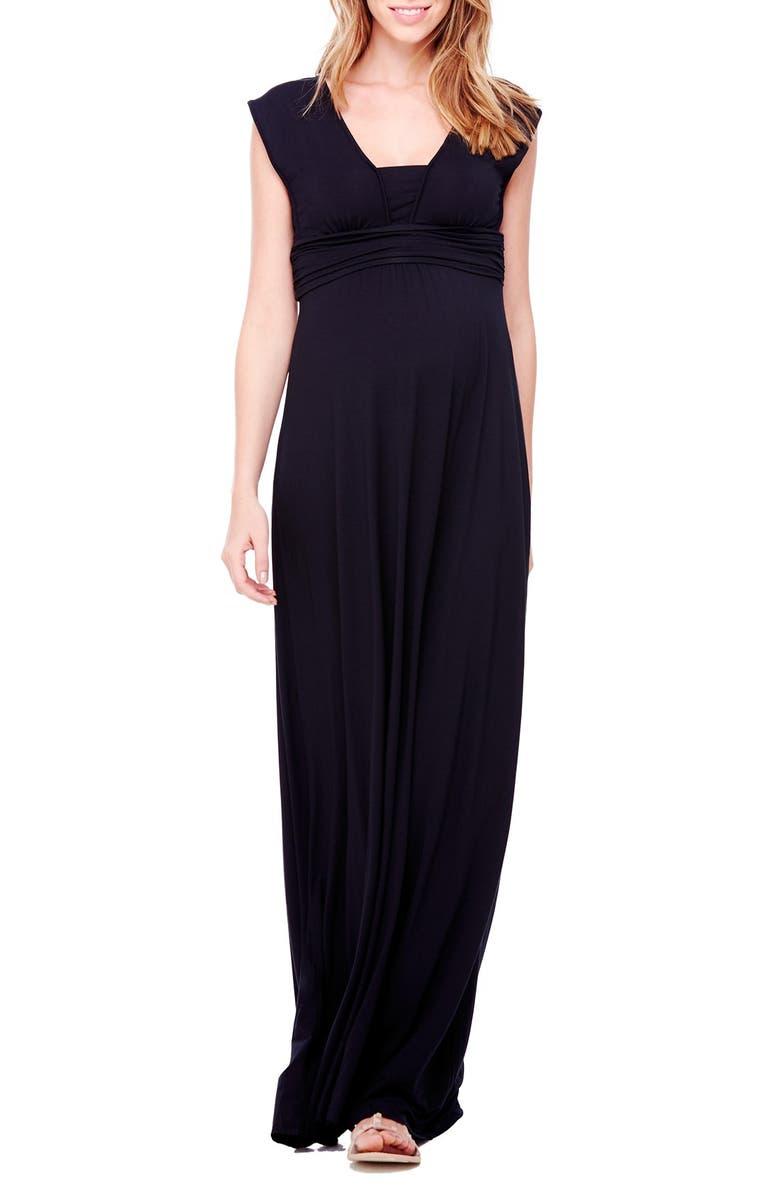 INGRID & ISABEL<SUP>®</SUP> Empire Waist Maternity Maxi Dress, Main, color, 002