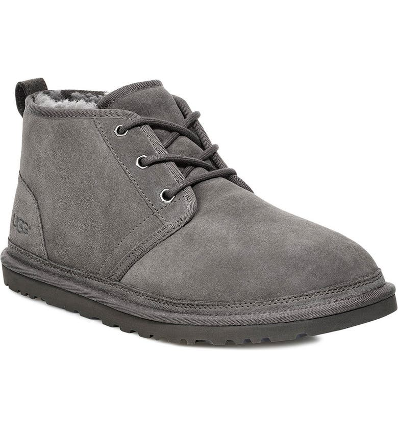 UGG<SUP>®</SUP> Neumel Chukka Boot, Main, color, CHARCOAL SUEDE