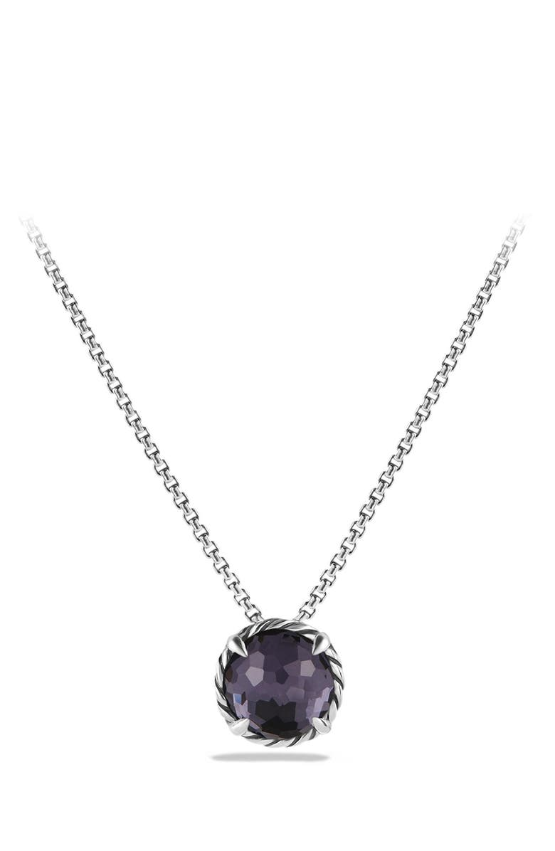 DAVID YURMAN Châtelaine<sup>®</sup> Pendant Necklace, Main, color, BLACK ORCHID