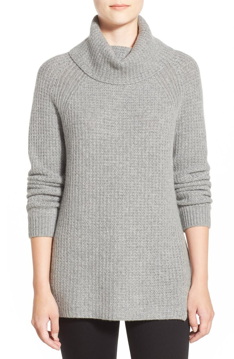 NORDSTROM COLLECTION Wool & Cashmere Turtleneck Sweater, Main, color, 030