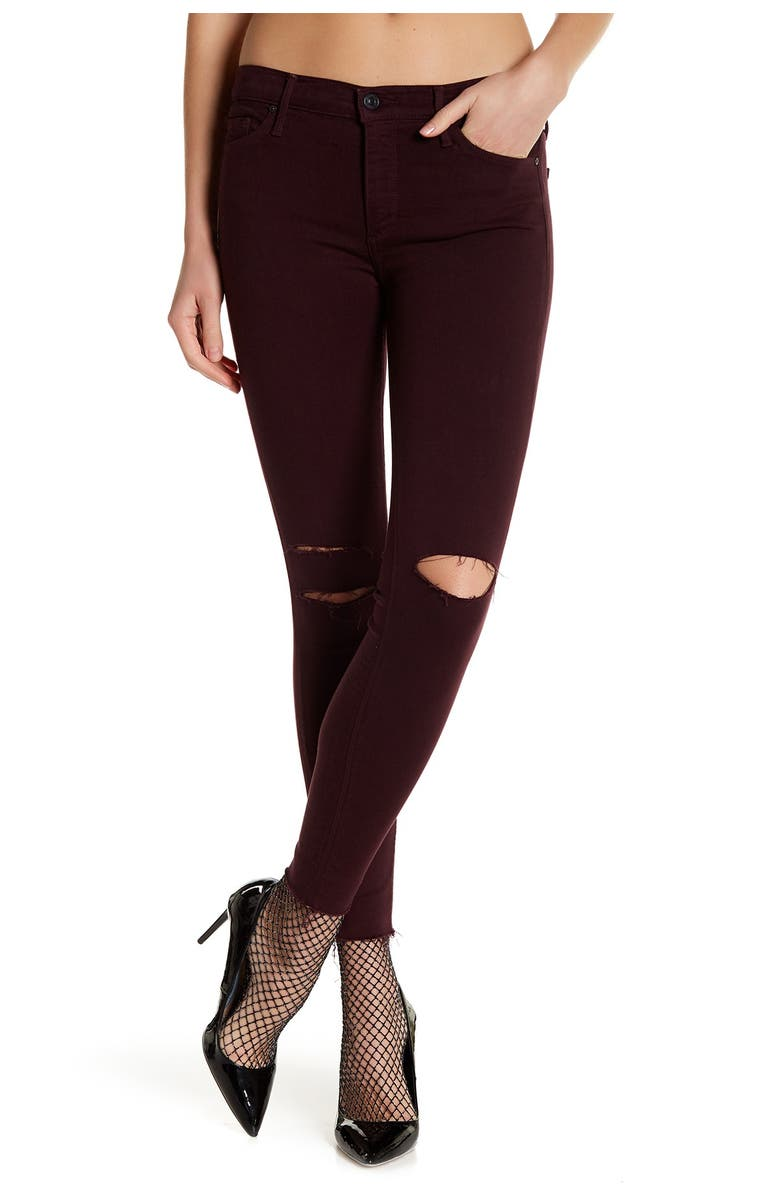 BLACK ORCHID Noah Ankle Fray Jeans, Main, color, SINFUL DESTROYED