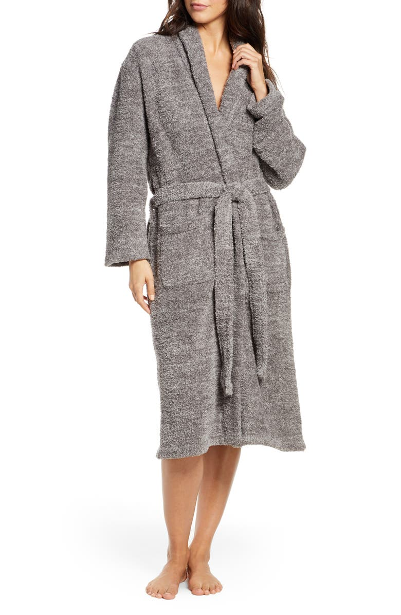 BAREFOOT DREAMS<SUP>®</SUP> CozyChic<sup>®</sup> Unisex Robe, Main, color, ASH/ DOVE GREY