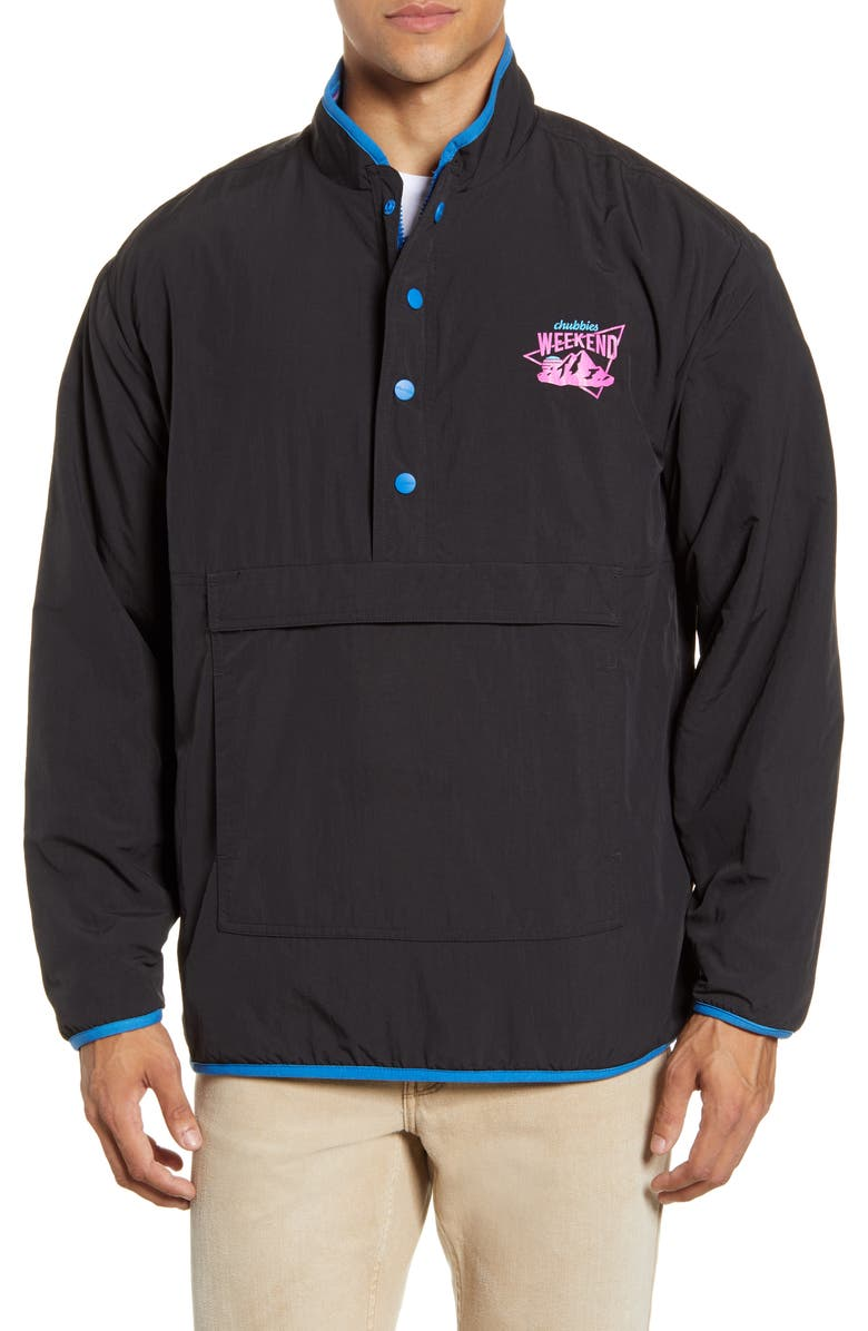 CHUBBIES The Wild Child Reversible Quarter Zip Pullover, Main, color, 001