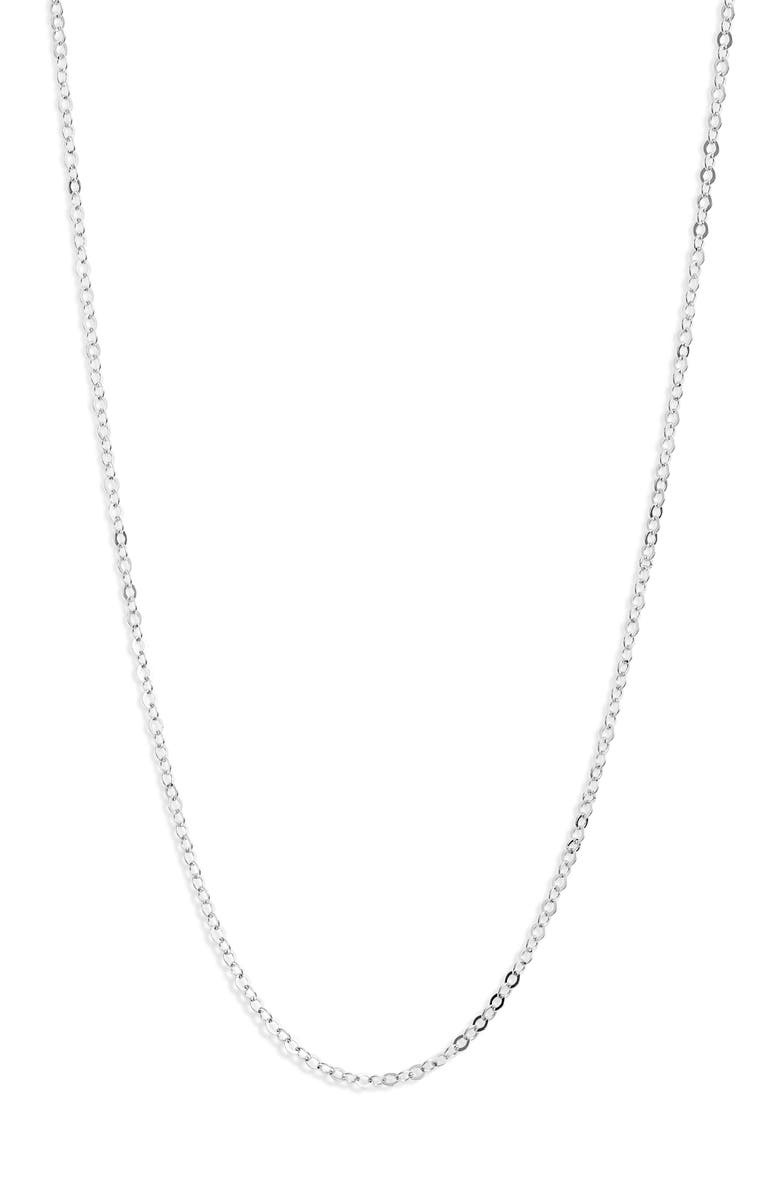 NASHELLE Chain Necklace, Main, color, Silver