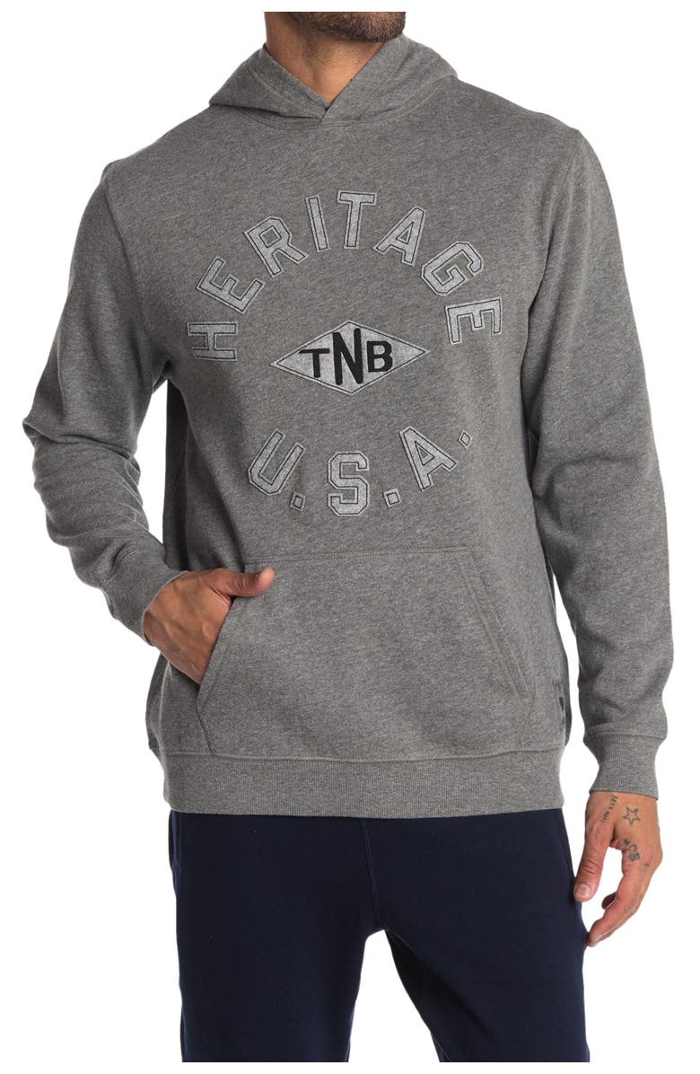 THE NORMAL BRAND Terry Knit Hoodie, Main, color, GREY