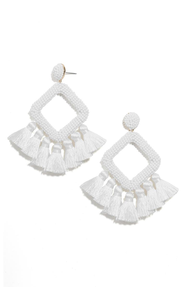 BAUBLEBAR Laniyah Tassel Statement Earrings, Main, color, 105