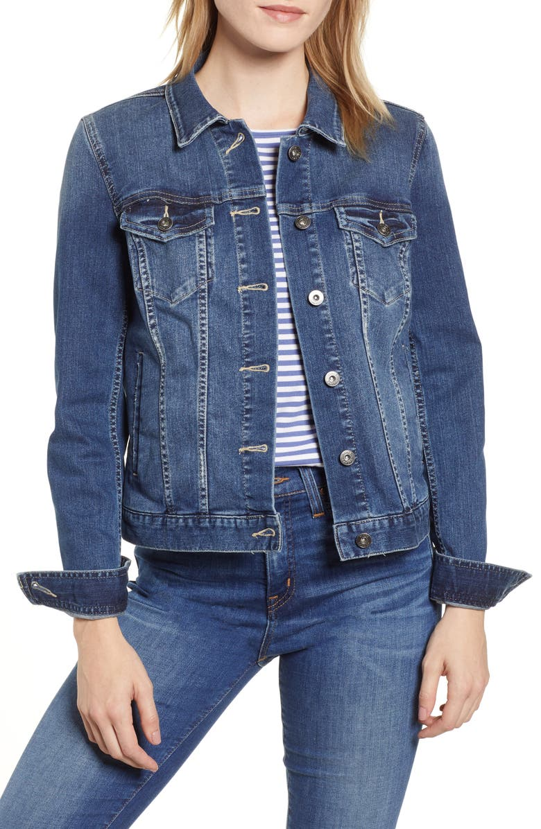 VINCE CAMUTO Two by Vince Camuto Jean Jacket, Main, color, AUTHENTIC
