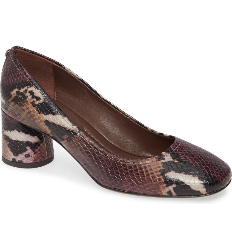 DONALD PLINER Camy Pump, Main, color, PLUM SNAKE PRINT LEATHER