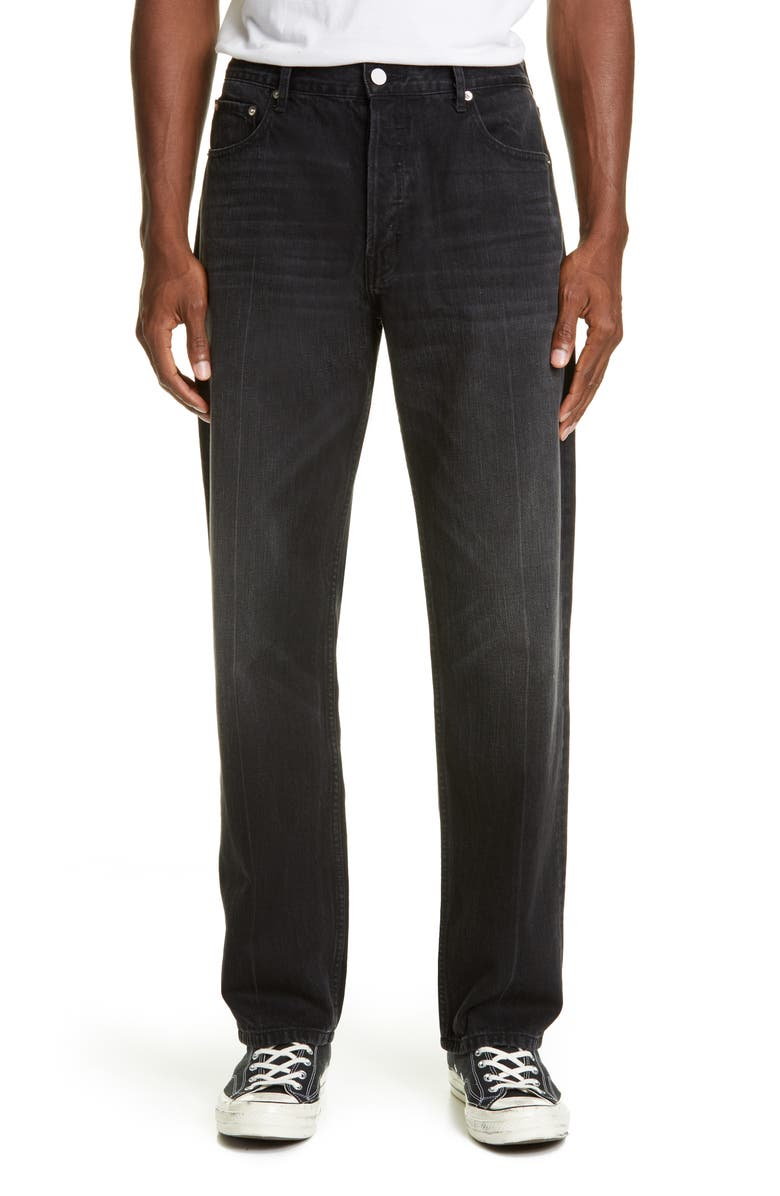 BILLY LOS ANGELES Straight Leg Jeans, Main, color, 001