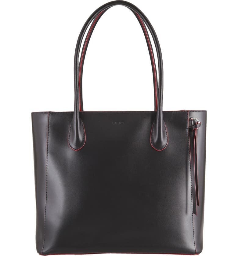 LODIS LOS ANGELES Cecily RFID Leather Tote, Main, color, 001