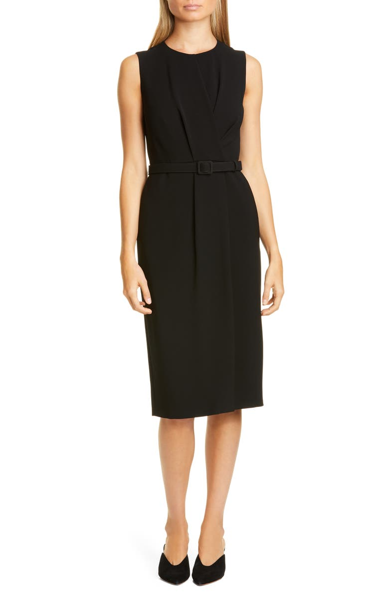 LAFAYETTE 148 NEW YORK Jude Belted Sheath Dress, Main, color, 001