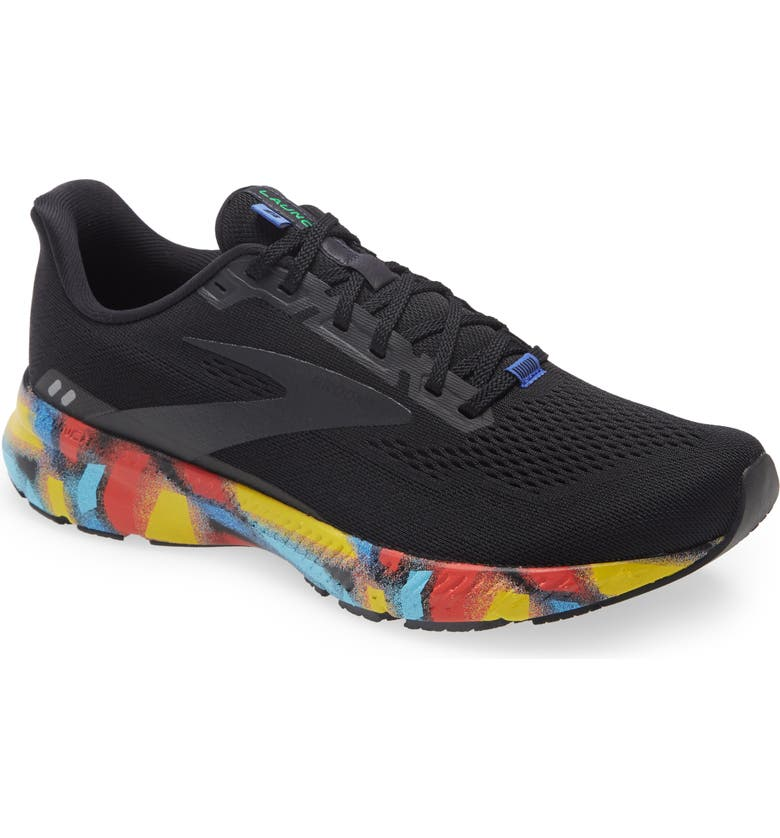 BROOKS Launch 8 Running Shoe, Main, color, BLACK/ RED/ BLUE