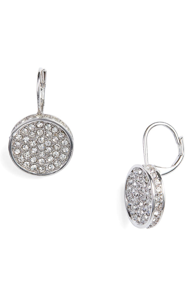 VINCE CAMUTO Crystal Glitter Earrings, Main, color, SILVER/ CRYSTAL