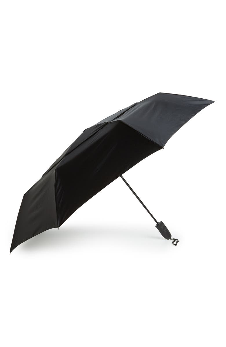 NORDSTROM Telescoping Umbrella, Main, color, BLACK