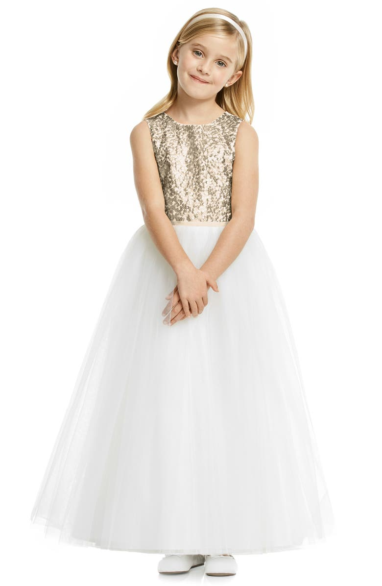 DESSY COLLECTION Flower Girl Dress, Main, color, 900