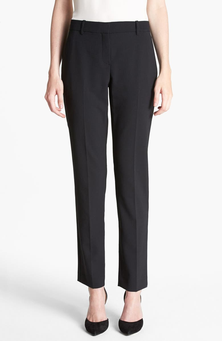 THEORY 'Louise' Ankle Stretch Pants, Main, color, 001