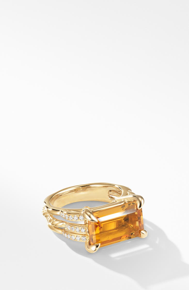 DAVID YURMAN Tides Ring in 18k Gold with Diamonds, Main, color, GOLD/ CITRINE