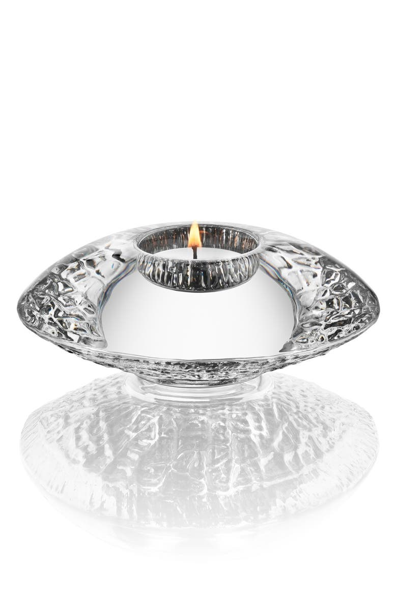 ORREFORS Discus Crystal Votive, Main, color, 101