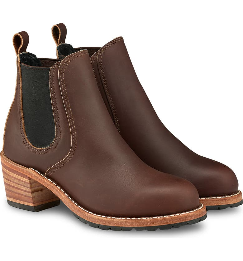 RED WING Harriet Boot, Main, color, MAHOGANY LEATHER