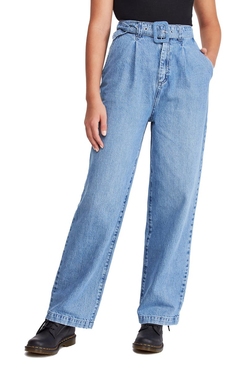 BDG URBAN OUTFITTERS '80s Acid Wash HIgh Waist Mom Jeans, Main, color, 486