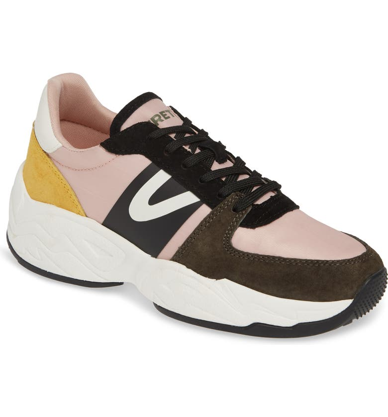 TRETORN Lexie 3 Sneaker, Main, color, OLIVE/ NEUTRAL PINK/ YELLOW
