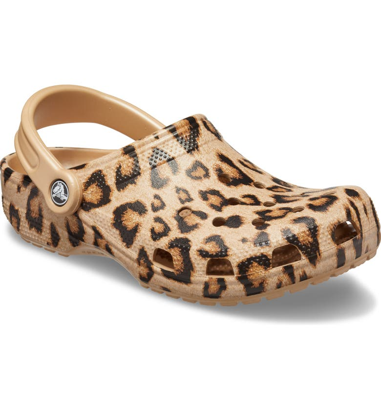 CROCS<SUP>™</SUP> Classic Print Waterproof Clog, Main, color, LEOPARD/GO