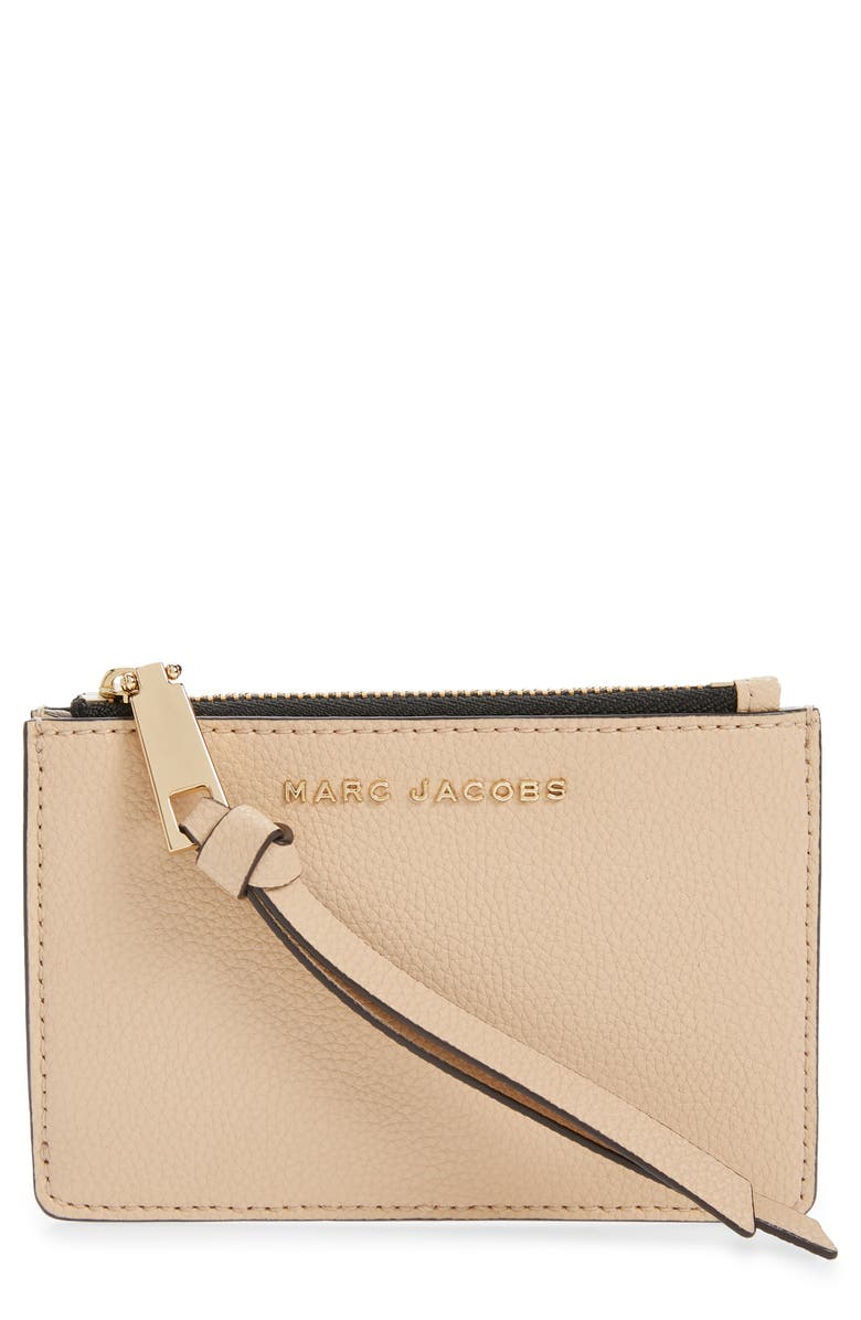 MARC JACOBS The Marc Jacobs The Simple Top Zip Leather Wallet, Main, color, HAZELNUT