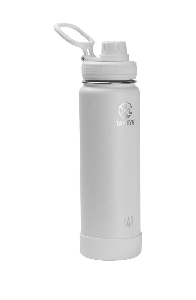TAKEYA Arctic Actives Insulated 24 oz. Spout Lid Stainless Steel Bottle, Main, color, ARCTIC