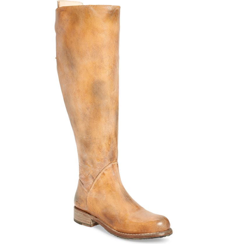 BED STU Manchester Over the Knee Boot, Main, color, TAN RUSTIC WHITE