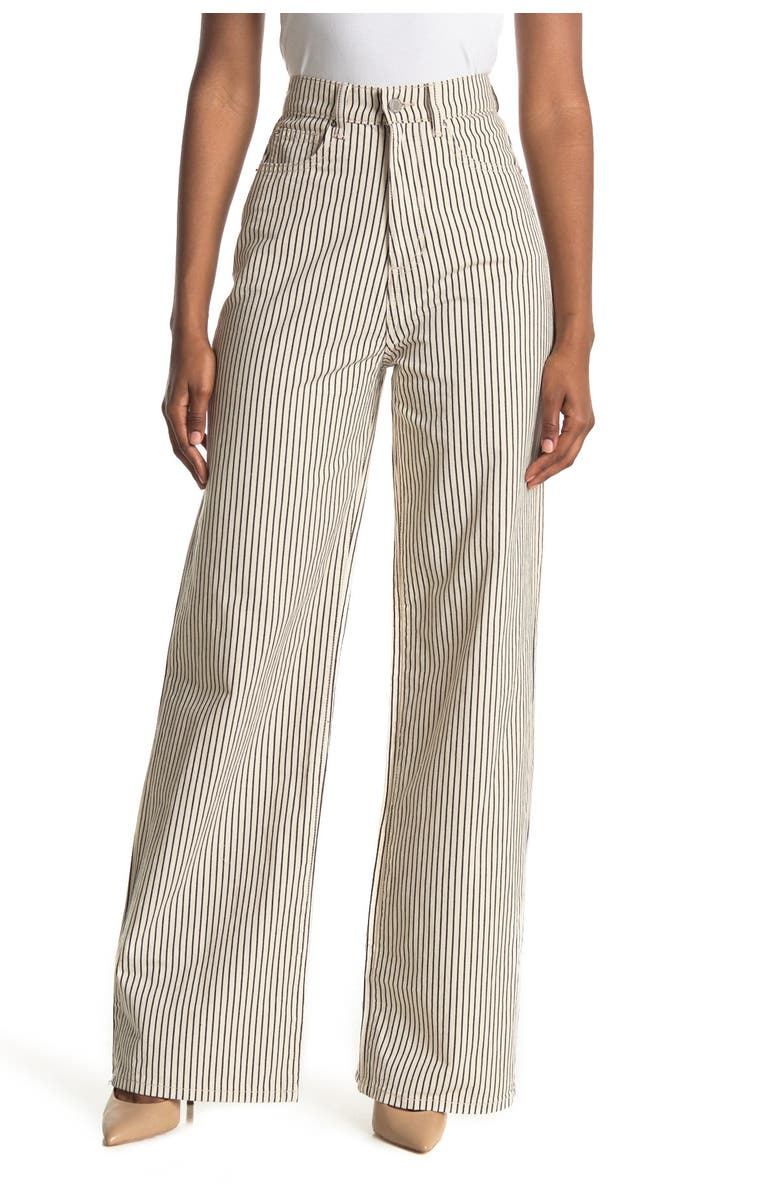 WEWOREWHAT High Rise Wide Leg Jean, Main, color, CREAM