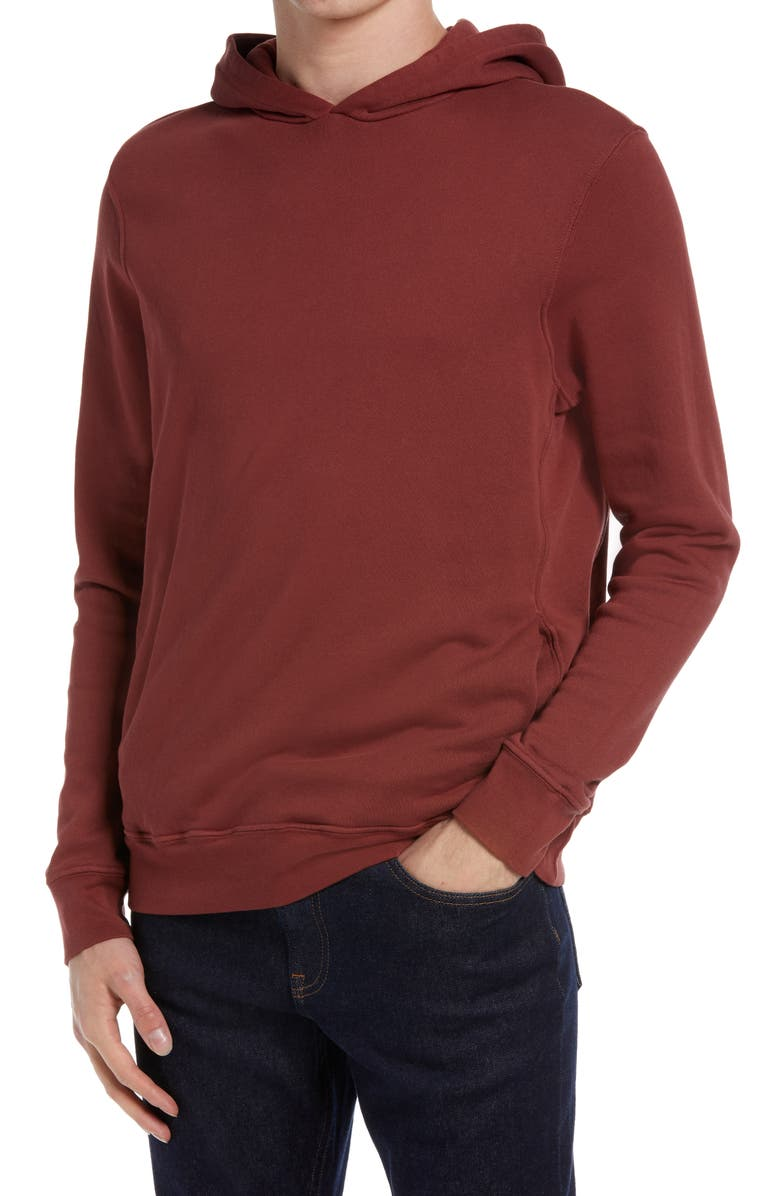 GOODLIFE Cotton Terry Pullover Hoodie, Main, color, RUSSETT