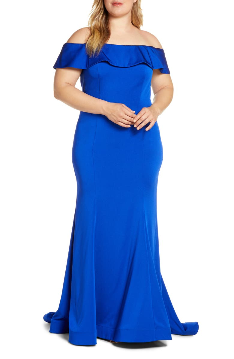 MAC DUGGAL Off the Shoulder Mermaid Evening Gown, Main, color, 400
