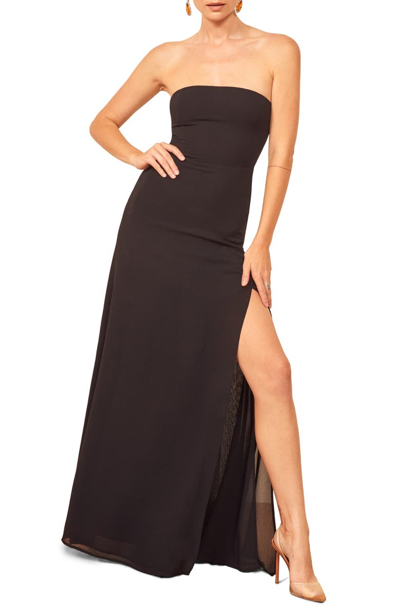 REFORMATION Ingrid Maxi Dress, Main, color, 001
