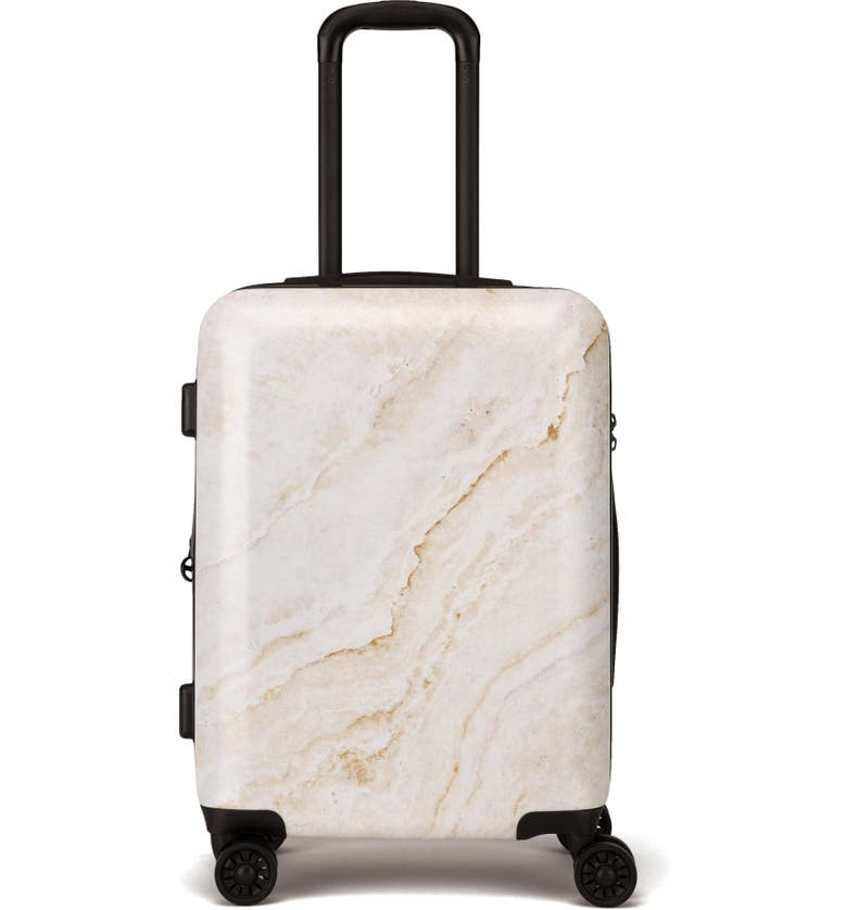 CALPAK Gold Marble 22-Inch Rolling Spinner Carry-On, Main, color, 710