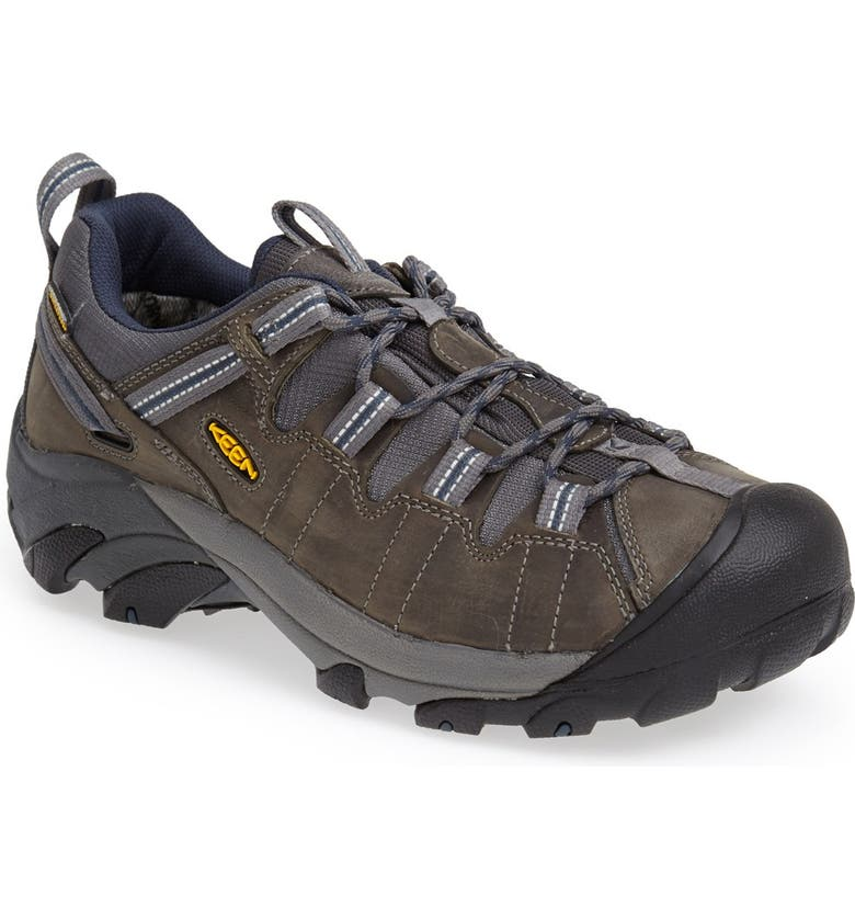 KEEN 'Targhee II' Waterproof Hiking Shoe, Main, color, GARGOLYE/ MIDNGHT NAVY