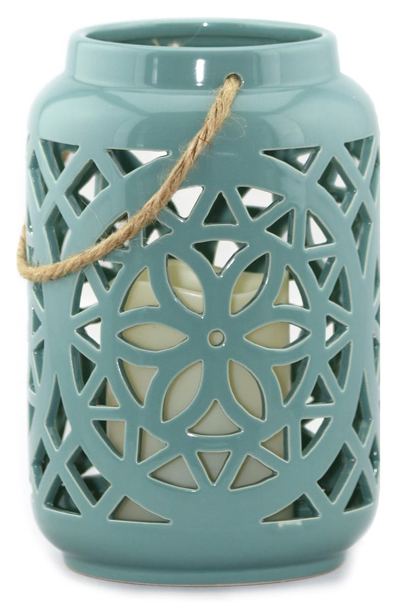 AMAZING FLAMELESS CANDLE Ceramic Lantern & All-Weather Flameless Candle, Main, color, 400