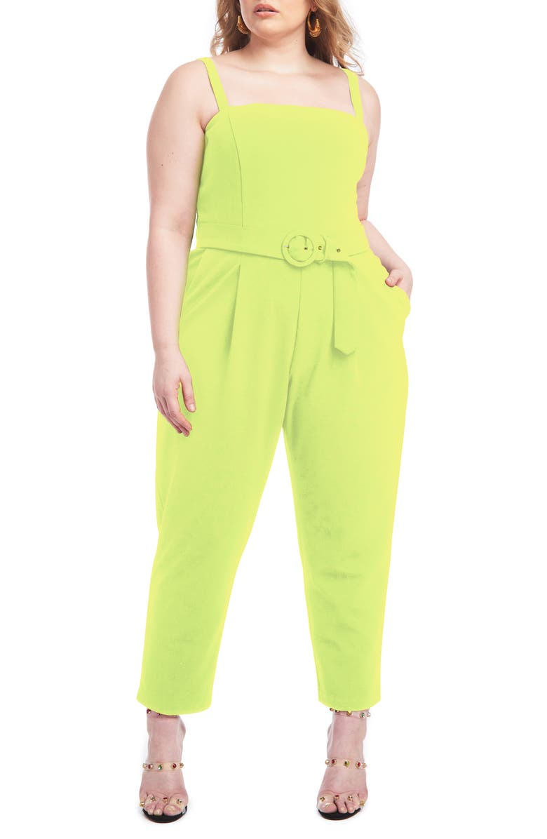 CHRISTIAN SIRIANO Belted Scuba Crepe Jumpsuit, Main, color, 300