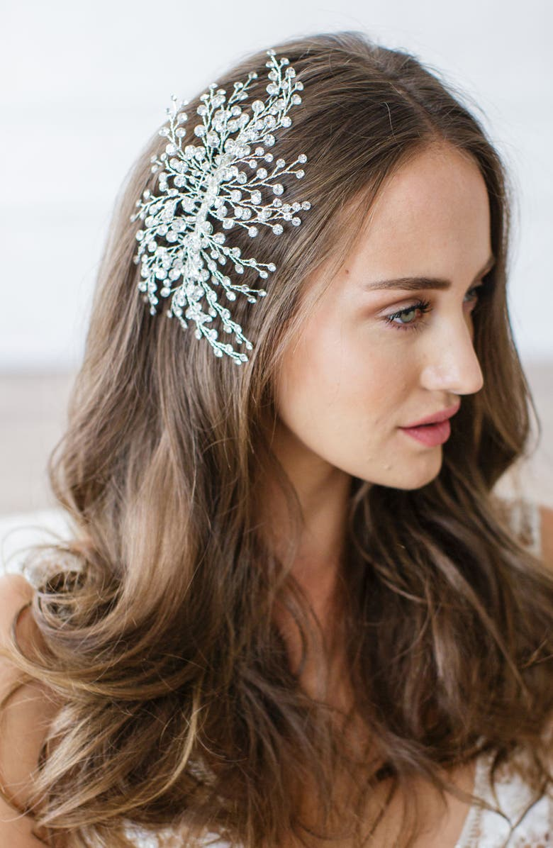 BRIDES & HAIRPINS 'Veda' Crystal Embellished Hair Comb, Main, color, 062