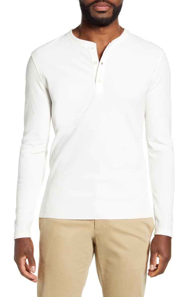 BILLY REID Regular Fit Waffle Knit Henley, Main, color, WHITE