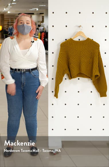 Butterfly Super Crop Sweater, sales video thumbnail