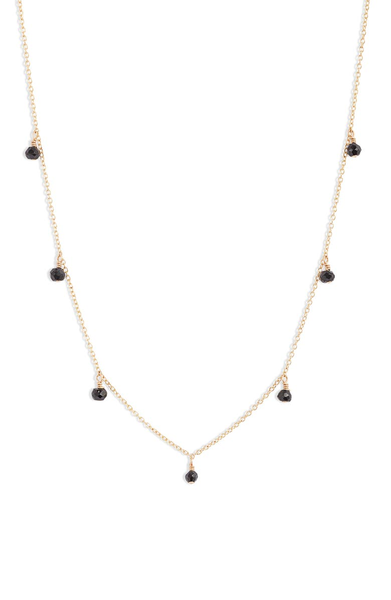 SET & STONES James Shaker Station Necklace, Main, color, GOLD/ BLACK