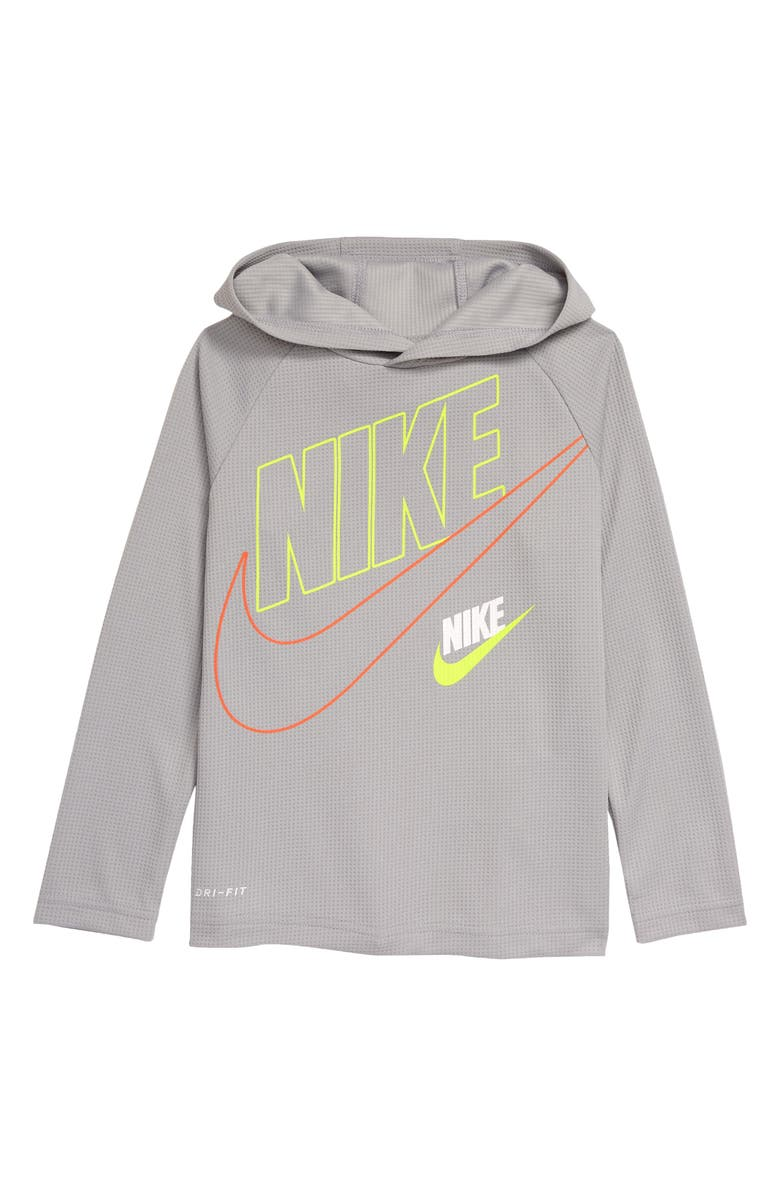 NIKE Kids' Dri-FIT Textured Pullover Hoodie, Main, color, 020