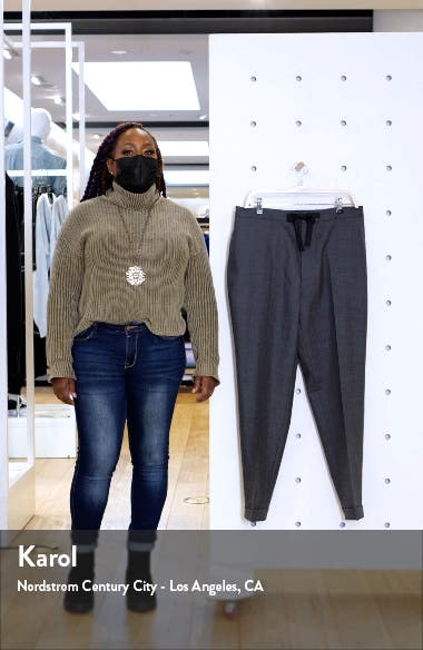 Joseph Pleated Fresco Wool Drawstring Pants, sales video thumbnail