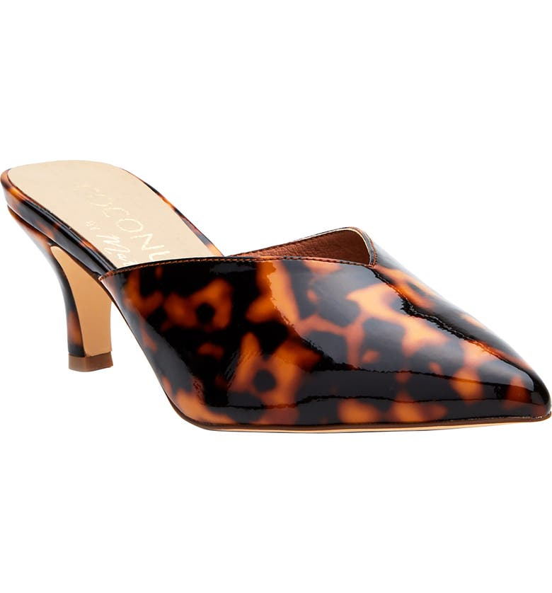 COCONUTS BY MATISSE Ojai Pointed Toe Mule, Main, color, BROWN TORTOISE PRINT