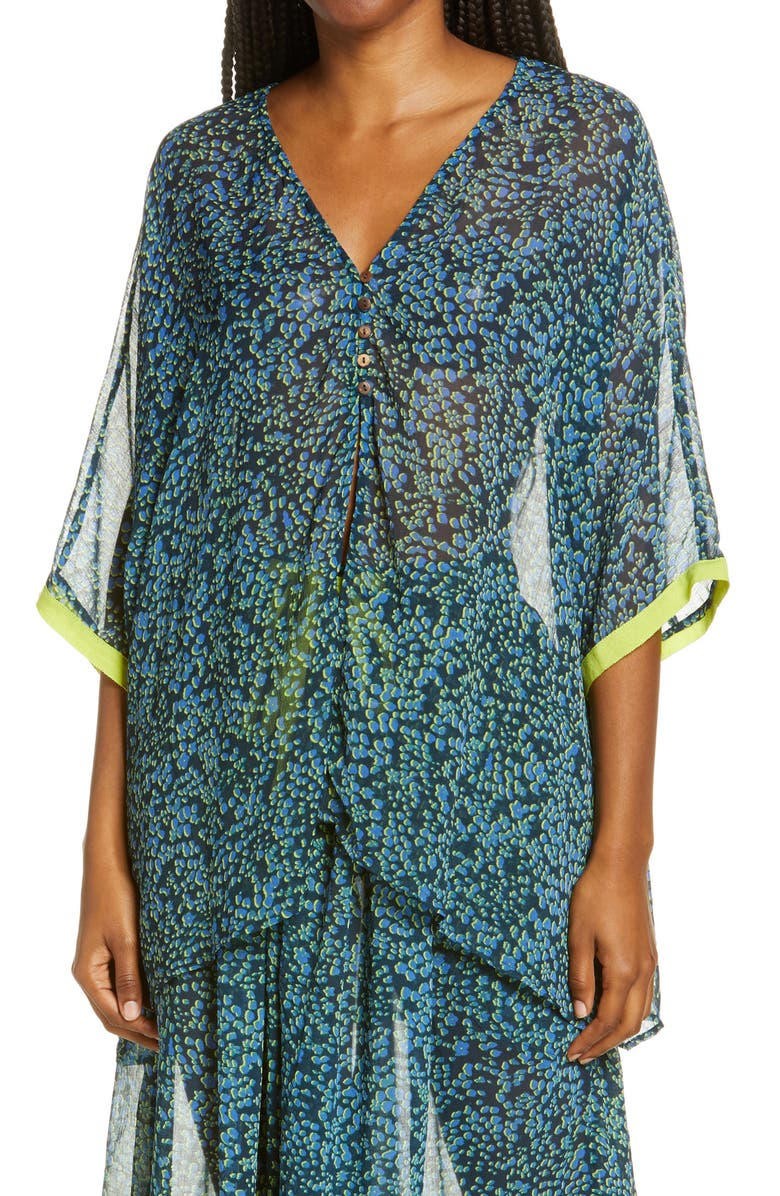 FREE PEOPLE Intimately FP Sleepin In Shirt, Main, color, NAVY COMBO